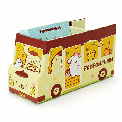 Sanrio Pom Pom Purin Bus Storage Box Paper Tape & Memo Set 401919N