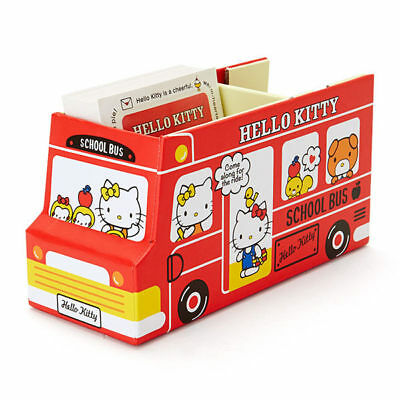 Sanrio Hello Kitty Bus Storage Box Paper Tape & Memo Set 401757