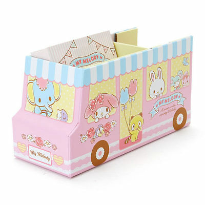 Sanrio My Melody Bus Storage Box Paper Tape & Memo Set 401838