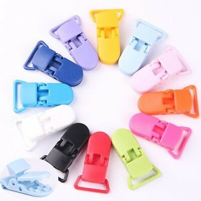 50PCS Pacifier Clips Bulk Plastic Baby Pacifier Holder Dummy Clips Hot