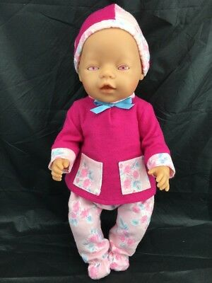 Zapf Creations *pink Eyes Doll *brand New Winter Outfit *96472 Roedental 42 Cm