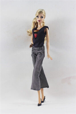 2in1 Set Fashion Outfit T-shirt Vest Top +Pants FOR 11.5in.Doll Clothes
