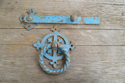 Large iron Gothic church door handle and latch circa.1880