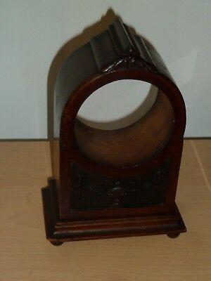 Solid mahogany antique mantel clock case to restore - case only