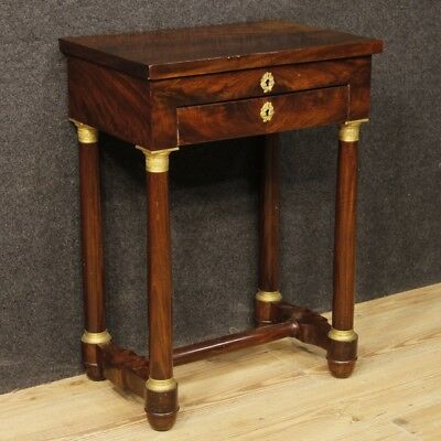 Work table French furniture living room wood antique style Empire 900