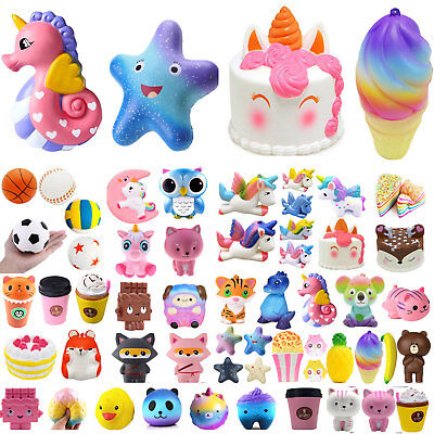 85 Types Jumbo Kawaii Slow Rising Squishies Scented Squishy Squeeze Toy Gift Lot