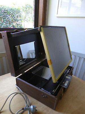 Visidyne Portable Microfiche Reader in Briefcase Vintage