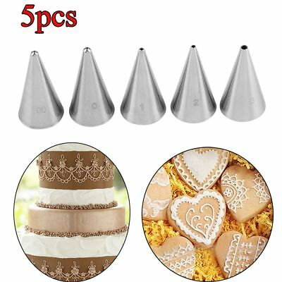 5Pcs  Writing Stainless Steel Icing Piping Nozzles Cake-Cup Cake Baking Tool