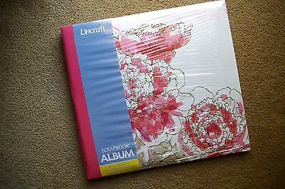 Lincraft Expandable 12x12 Scrapbook Album - Pink Flower - Top Loading Pages