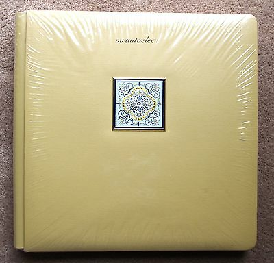 Creative Memories Lemon Kaleidoscope Original 12x12 Album wth White Pages