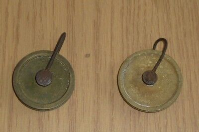 "Two Longcase clock line pulleys  approx 1 3/4"" diameter"