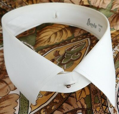 Vintage Lloyds shirt collar size 15.5 shape 12 separate starched mens IMPERFECT
