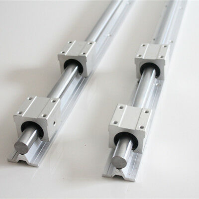 2Pcs Shaft SBR20 L200-1500mm Linear Rail Fully Supported + 4X SBR20UU Bearing