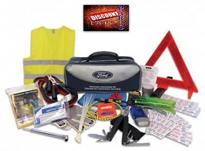 Ford Roadside Assistance Kit Tools First Aid and Safety Hazard Warning Triangle