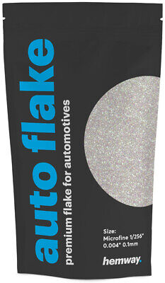 "Hemway Metal Flake Mother of Pearl 0.004"" MICROFINE 100g Auto Car Bike Glitter"