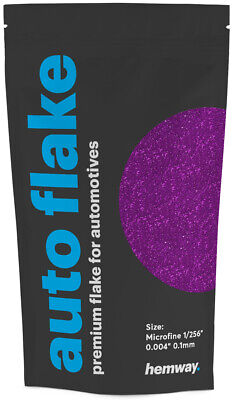 "Hemway Metal Flake Fuchsia 0.004"" MICROFINE 100g Auto Car Bike Glitter Paint"