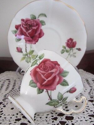 Vintage - Adderley - ''roses'' - Cup / Saucer Duo
