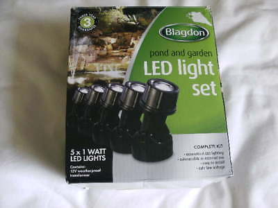 Blagdon Enhance LED Pond and Garden Light Set.. 5 x 1 watt