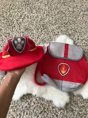 Nickelodeon Paw Patrol Boy Hat w/ Ears & Small Backpack Lightweight Sz 2-6 Years