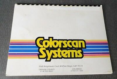 Colorscan Systems for 4 Color Process Mixing for Print and Graphic Artists