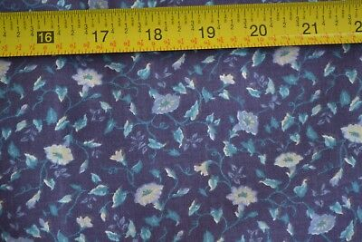 By 1//2 Yd N1290 Cream Calico on Purple Quilting Cotton