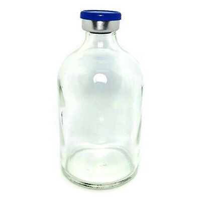 100mL Sterile Clear Glass Vial Qty: 100 - FREE SHIPPING
