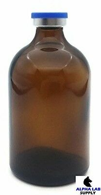 100mL Sterile Amber Glass Vial Qty: 25 - FREE SHIPPING