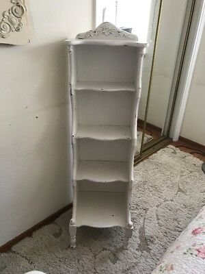 Antique White Wood Bookcase
