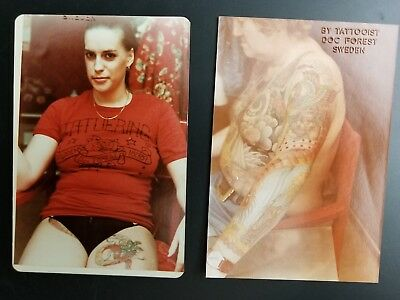 vintage 70s tattoo photos (2) of doc forest japanese tattooing stockholm sweden
