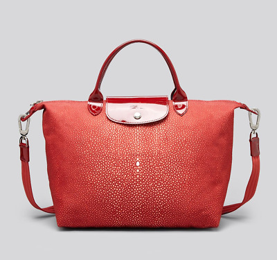 ee34ed59bacb Longchamp Women s Red Tote Le Pliage Neo Printed Medium (Made in France)