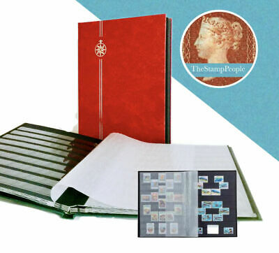 *NEW** ⭐️ RED STAMP ALBUM - A4 Size (8 Pages/ 16 Sides) STOCKBOOK ~BLACK PAGES