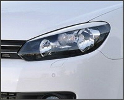 Eyelids eyebrows FRONT headlight light brows ABS for VW GOLF GTi MK6