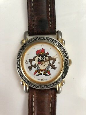 "TAZ Tasmanian Devil Watch vintage 1992 retro Warner Bros L 9"" long- Looney Tunes"