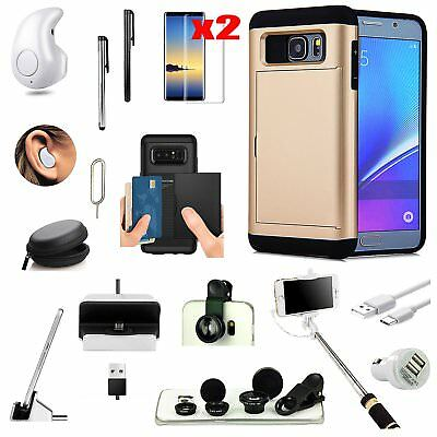 Gold Pocket Case Wireless Headset Monopod Lens Accessory For Samsung Galaxy S9
