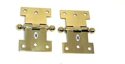 "IDH Brass with ball 80254-003 2-1//2 x 4/"" Parliament Hinge pair -Polished Brass"