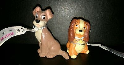 Set Of 2 - Lady & The Tramp Bullyland Disney Figure 12445 & 12446 - Cake Topper.