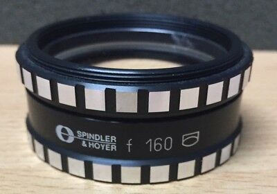 Spindler & Hoyer Achromatic Objective Lens f-160 Dia 40mm Used