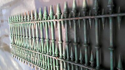Victorian cast iron fencing..Double spear original condition,Stunning & rare