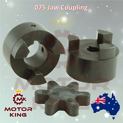 "075 Jaw Coupling 12mm 14mm 16mm 18mm 19mm 20mm 22mm 1/2"" 5/8"" 3/4"" 7/8"""