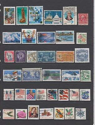 USA - 37 used stamps  ( Lot 117 )