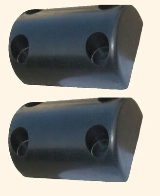 "LOADING DOCK BUMPERS (1-pair) 8"" Long Rubber Warehouse Truck Body Trailer Wall"