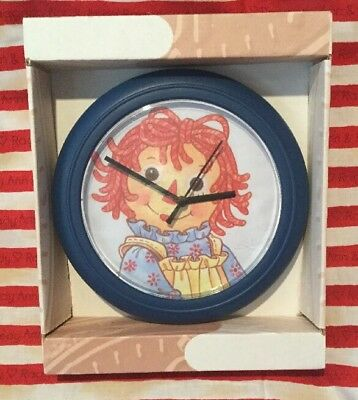 Raggedy Ann New In Box Wall Clock