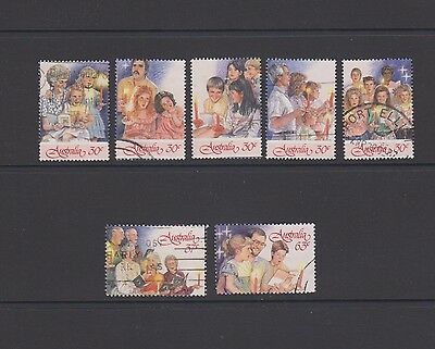 Christmas 1987 - Carols by Candle Light - Complete set of 7 used stamps