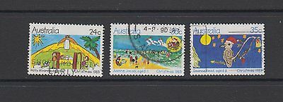 Christmas 1983 - full set of 3 used stamps