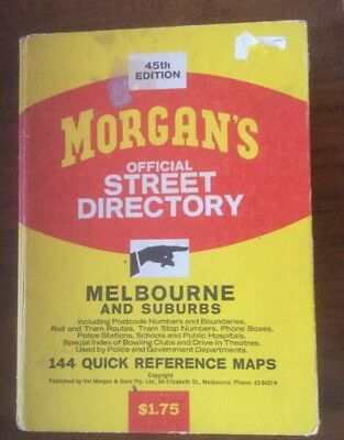 Vintage Morgans Street Directory, 45th Edition  Melbourne & Suburbs