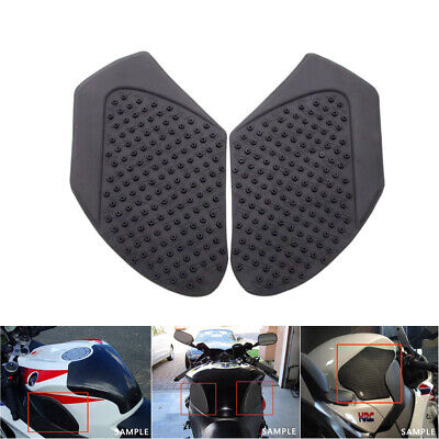 Black Tank Traction Pad Side Gas Knee Grip Decals For Kawasaki ZX10R 2011-2016