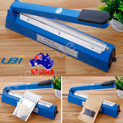 "12"" Impulse Heat Sealer 300mm Electric Plastic Poly Bag Hand Sealing Machine AU"