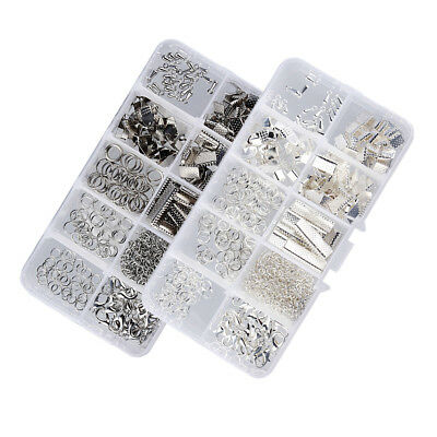 White K & Silver Jewelry Making Findings Starter Kit DIY Craft Accessory Box