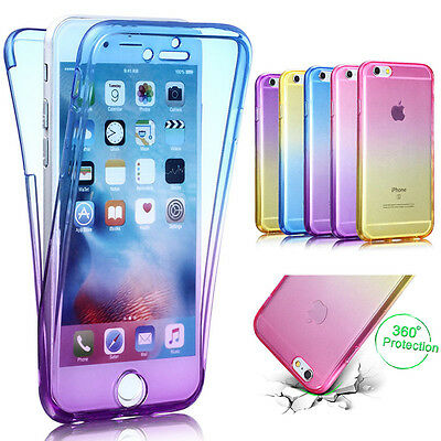 Shockproof 360° Silicone Protective Case For iPhone X 6 7 8Plus Slim Clear Cover