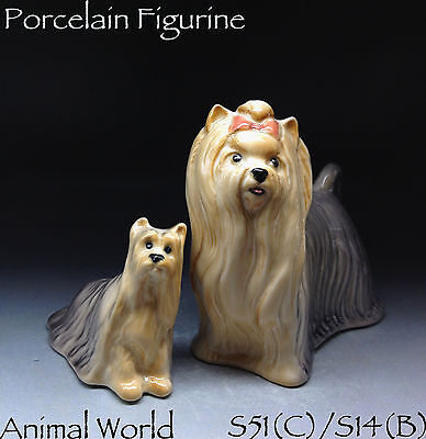 Figurine Yorkshire Terrier porcelain Two dog Animals Russian Souvenirs